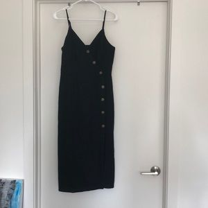 Only worn once black button midi dress !!!